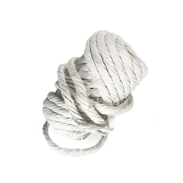 Dust free asbestos twisted rope